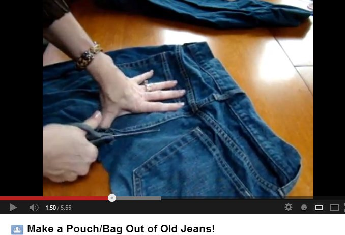 how to turn a pair of jeans into shorts